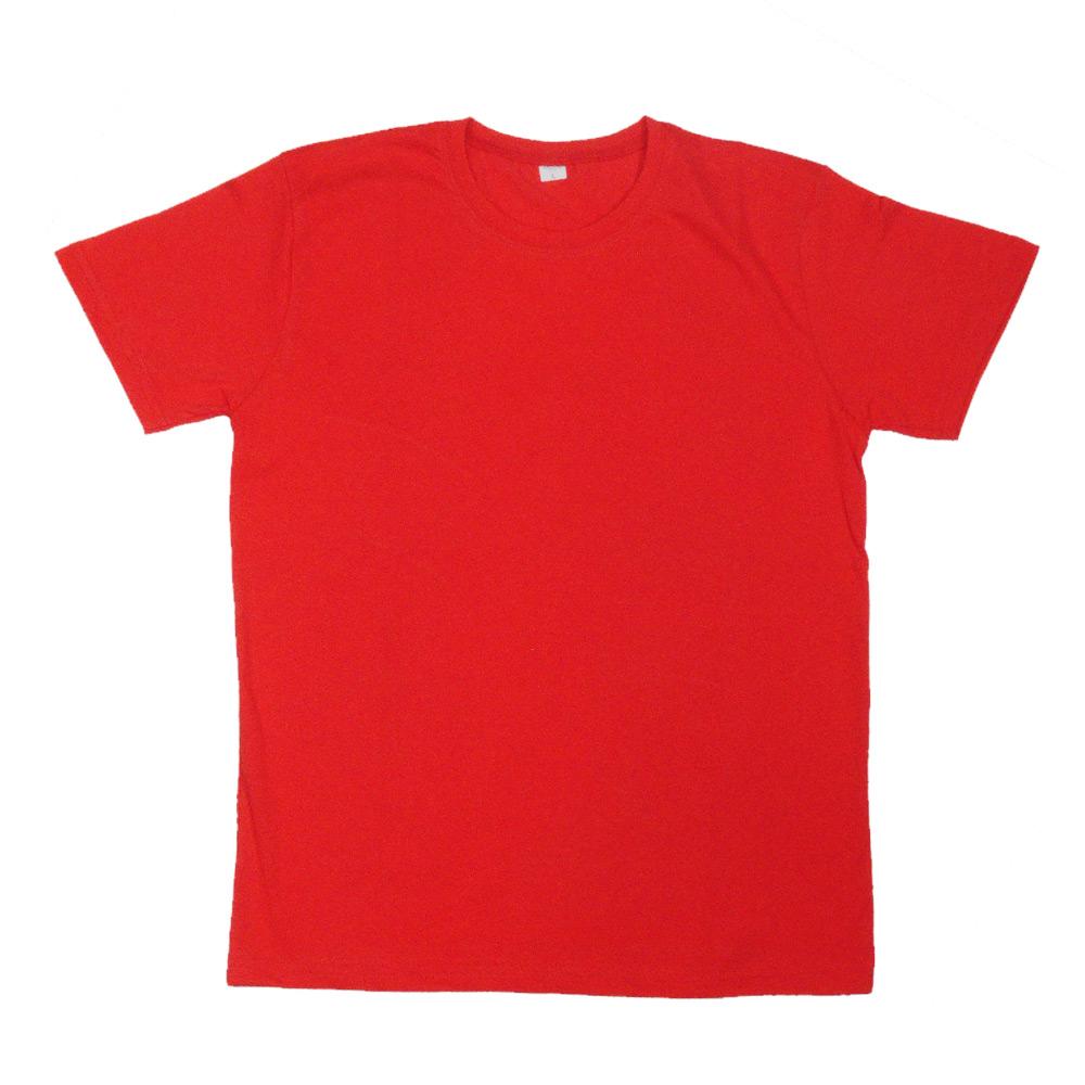 Düz T-Shirt - Kırmızı - Dar Kesim
