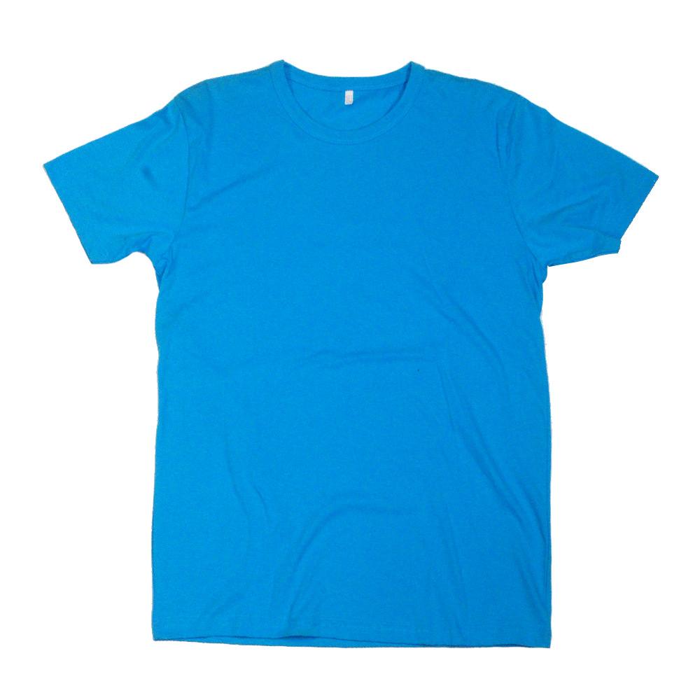 Düz T-Shirt - Mavi - Dar Kesim