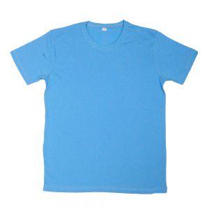 Düz T-Shirt - Açık Mavi - Dar Kesim