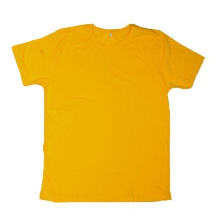 Düz T-Shirt - Sarı - Dar Kesim