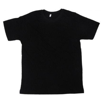 Siyah - Düz T-Shirt Dar Kesim